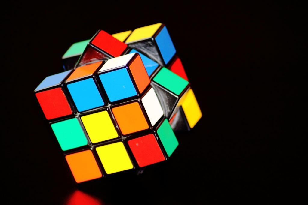 Rubik's cube to show that buying an espresso machine can be puzzling.