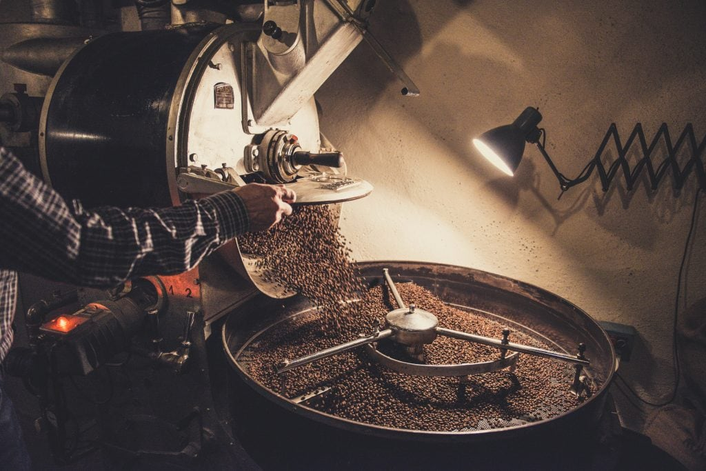 Image depicting the coffee roasting process