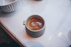Small espresso ceramic handmadecup