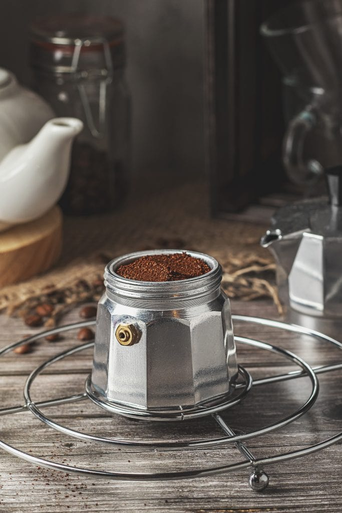 Fill the filter basket with coffee