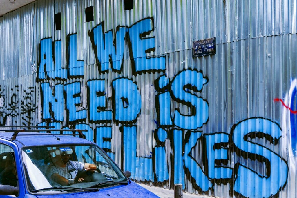 """Graffiti """"All we need is more likes"""""""
