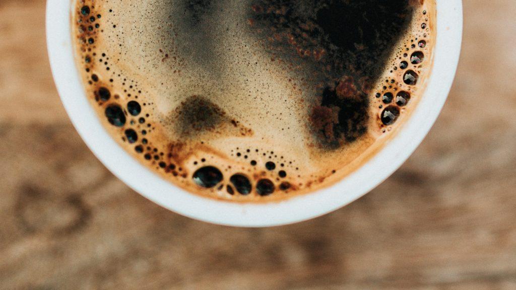 Americano coffee close up