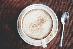 Frothy coffee top
