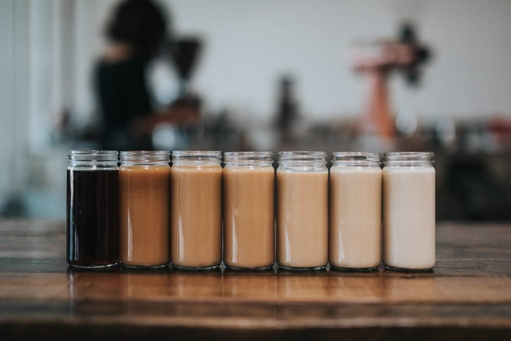 Different coffee drinks